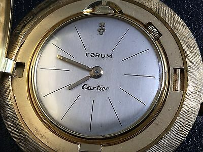 Most Amazing Corum Pocket Watch Ultra Rare 18k Gold Must See !!