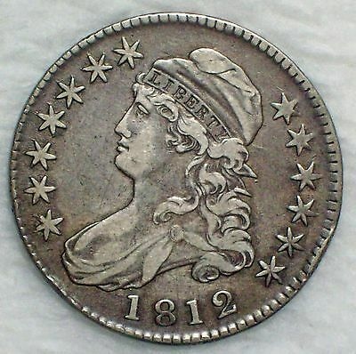 1812 BUST Half Dollar SILVER O-107 Variety VF+/XF Detailing RARE Authentic Coin
