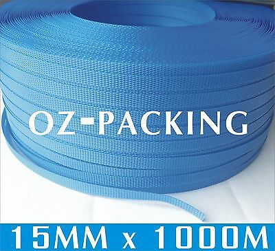Pick Up Only ! 15mm x 1000m Blue Hand Poly Strap strapping polypropylene