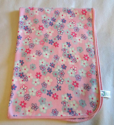 Gymboree Baby Girl Blanket Pink Purple Blue Floral Flowers Security Lovey Soft