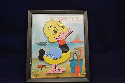Vintage Child Guidance Inlaid Plastic Magnetic Duck Puzzle 10 Piece Complete 901