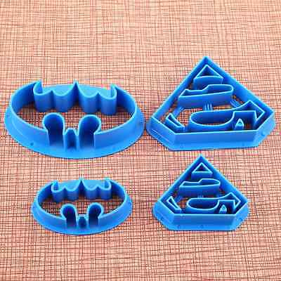 4pcs Batman Cake Cookies Biscuit Cutter Fondant Pastry Mould Decorating Mold