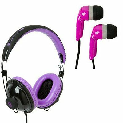 Siege Audio Audit Voucher and Tally 2 Pack Headphones - Plum Color - Brand New