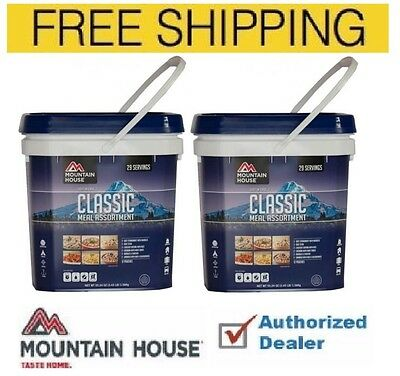 New Mountain house Just in Case 2 Classic Buckets, Free Fast Shipping