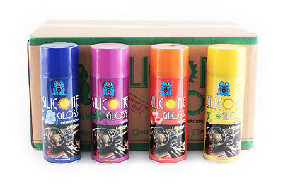 48x 450ml CAR VALET CLEANING SILICONE GLOSS SHINE SPRAY DASHBOARD GLOSSY FINISH
