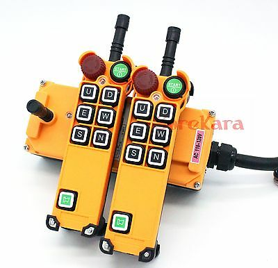 12V-415V 6 Channels 2 Speed E-STOP Loud Alarm Hoist Crane Remote Controller