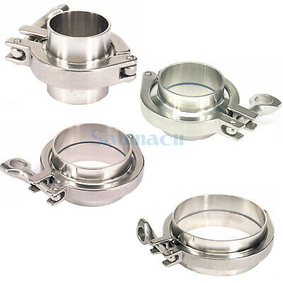 "1/2"" - 4"" 304 Stainless Sanitary Weld Union Set Tri Clover Tri Clamp Ferrule"