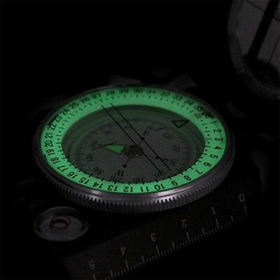 New Lensatic Compass Military Camping Hiking Metal Survival Marching OK