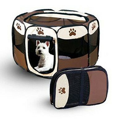 Pet Exercise Playpen Puppy Dog Cat Play Pen Crate Tent Easy Storage Portable