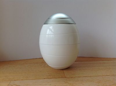 Compostable Cremation Urn for Adults Ashes White & Silver Essenza