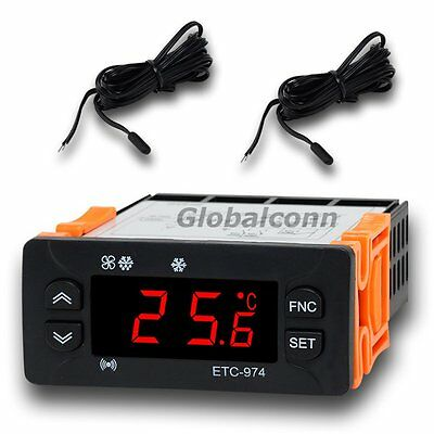 230V Temperature Controller Temp Thermostat NTC Cold Storage ETC-974 Elitech