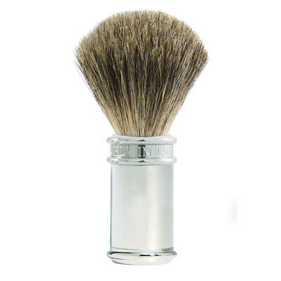 Edwin Jagger Shaving Brush, Pure Badger, Chrome Plated