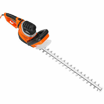 VonHaus 750W Rotating Handle Electric Hedge Trimmer Cutter - 61cm Blade & Cover