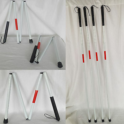 Visually Impair Crutch Guide Folding Cane Walker Stick Blind Reflector 125cm