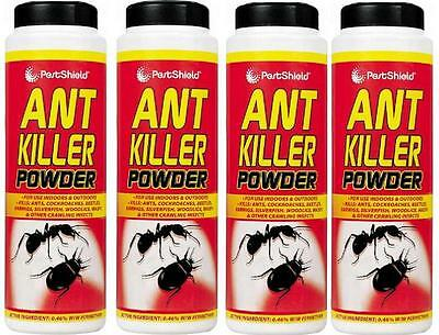4 X 240G PestShield Ant Killer Powder Cockroaches Carpet Beetles Wasps Woodlice