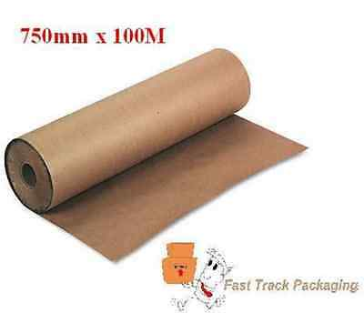 750mm x 100M STRONG BROWN KRAFT WRAPPING PAPER 88gsm
