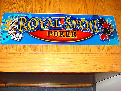 Royal Spoil Poker Casino Machine Glass , Game Room Or Mancave Sign