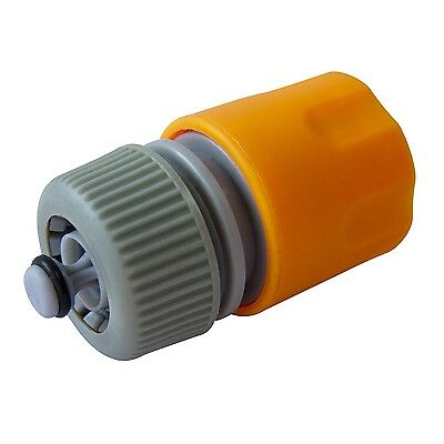 """1/2"""" HOSE CONNECTOR WIth Shut Off Gardening Washing Replacement Cleaning"""