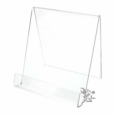 """Book Clear Acrylic Display Stand Easel Holders for Items up to 7/8"""" Thick Qty: 1"""