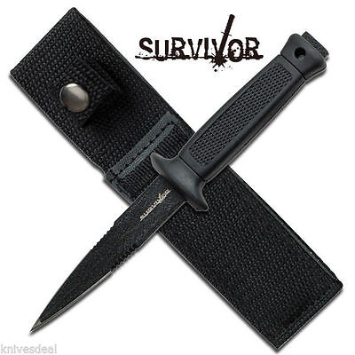 """6.5"""" Double Edge Military Tactical Fixed Blade Boot Knife Thrower"""