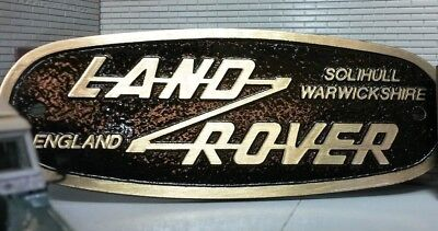 Land Rover Defender Brass Bronze Grill Tub Heritage Front Panel Badge Solihull