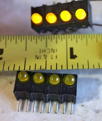 LED ARRAY, 4 YELLOW LEDs , NEW lot of 100 pieces.