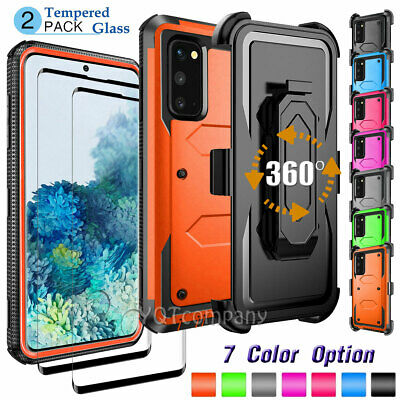 For Samsung Galaxy S7 S10 Plus Screen Protector Heavy Duty Case Cover +Belt Clip