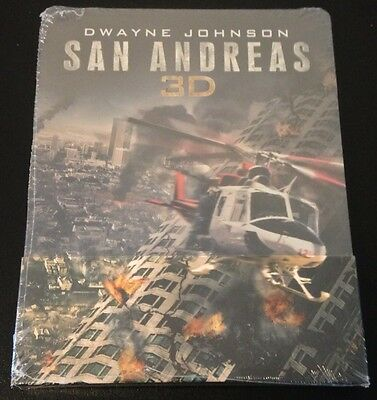 SAN ANDREAS 3D & 2D Blu-Ray SteelBook Region Free Film Arena 1/500 Sold Out Rare