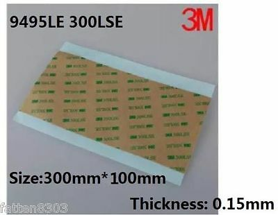 3M 9495LE 300LSE Clear Transparent Double Side Adhesive Transfer Tape 10cm*30cm