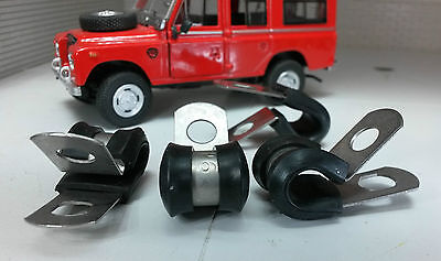 Land Rover Series 1 2 2a 3 Stainless Rear Grommet & Brake Pipe Clip Set 56666 x4