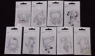 Kaisercraft MINI CLEAR STAMPS 'ANIMALS' (Choose from 10 Designs) KAISER