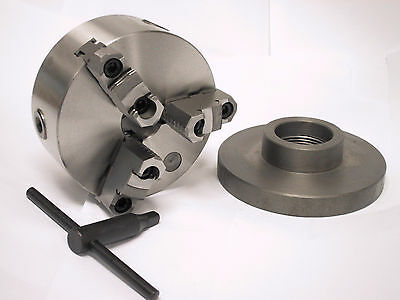 "6""  3 - Jaw Reversible Jaws Chuck W. 2-1/4 x 8 Aaptor"