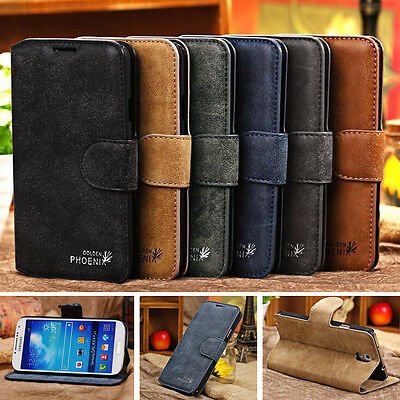 Genuine Leather Flip Wallet Case Cover For Samsung Galaxy SV S5 i9600