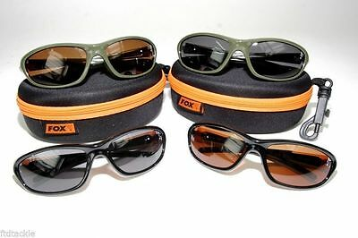Fox Xt4 Sunglasses With Pouch Choose Colour Polarised Waterproof Fishing