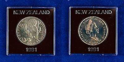 1 Dollar 1981 Neuseeland - Box - Cu-Ni 28g 38mm