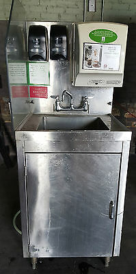 Hand Wash Portable Sink Cart Station  Stainless Steel