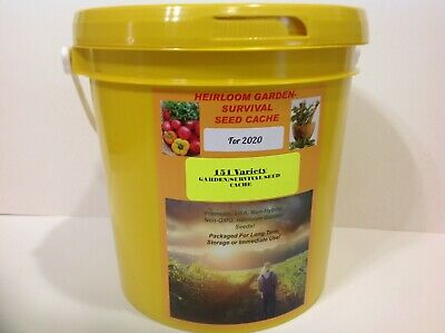 151 Heirloom Varieties! Non-GMO GARDEN/SURVIVAL SEED CACHE WITH $15 HERB PACK