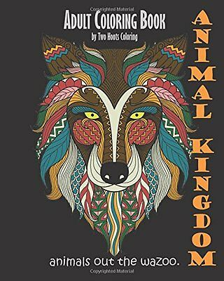 Adult Coloring Books Animals Face Patterns Painting Art Design Relaxing -Stress