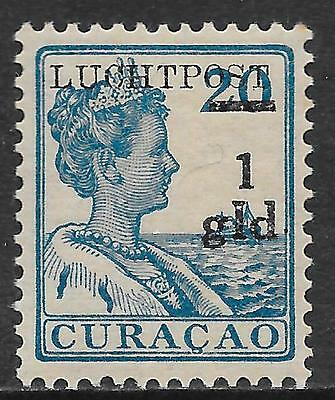 Curacao stamps 1929 NVPH Airmail LP2f  Ovpt Error  MLH  VF