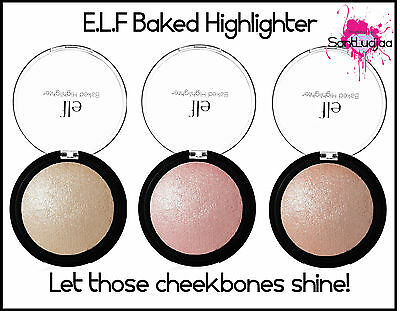 E.l.f Elf Baked Highlighter Pink Gold Blush Blsher Highlighting Pressed Powder
