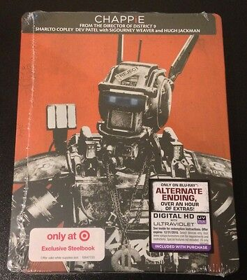 CHAPPIE Blu-Ray SteelBook Target Exclusive Limited Edition Sold Out New & Rare!