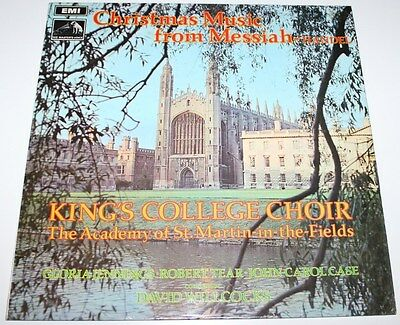 KING'S COLLEGE CHOIR - Christmas Music Handel Messiah [Vinyl LP] UK CSD 3669 EXC