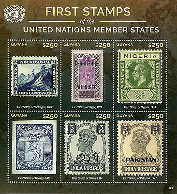 Guyana 2015 MNH First Stamps UN United Nations Member States 6v M/S II