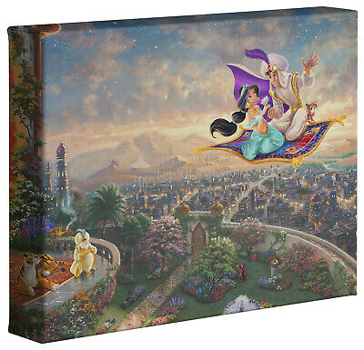 Thomas Kinkade Studios Disney Aladdin 8 x 10 Gallery Wrapped Canvas