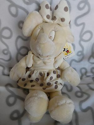 "Rare All White 13"" Plush Minnie Mouse Disney With Tags"