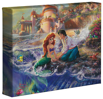 Thomas Kinkade Little Mermaid 8 x 10 Wrapped Canvas Disney