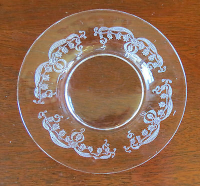 "Fostoria Lily of the Valley Clear 5 3/8"" Plate(s)"