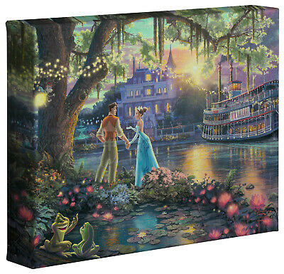 Thomas Kinkade Disney Princess and the Frog 8 x 10 Gallery Wrapped Canvas