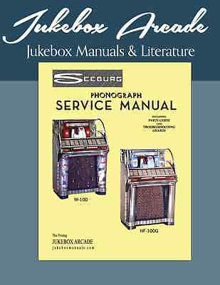 Complete Seeburg HF-100g & 100W Service Manual Top Quality from Jukebox Arcade