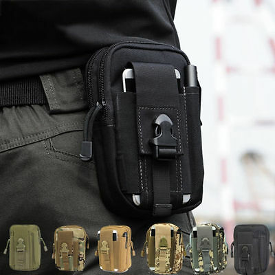 Tactical Waist Fanny Pack Belt Bag EDC Camping Hiking Pouch Wallet Phone